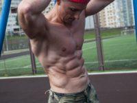 Дмитрий на тренировке